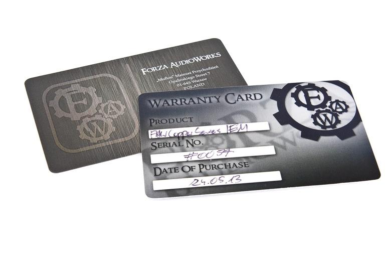 Even the warranty card looks nice.
