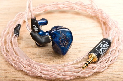The Copper Series IEM cable paired with the Heir Audio 4.A