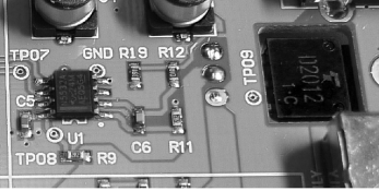 ...and the final voltage regulator stage, utilizing an NE5532, perhaps a voltage reference.