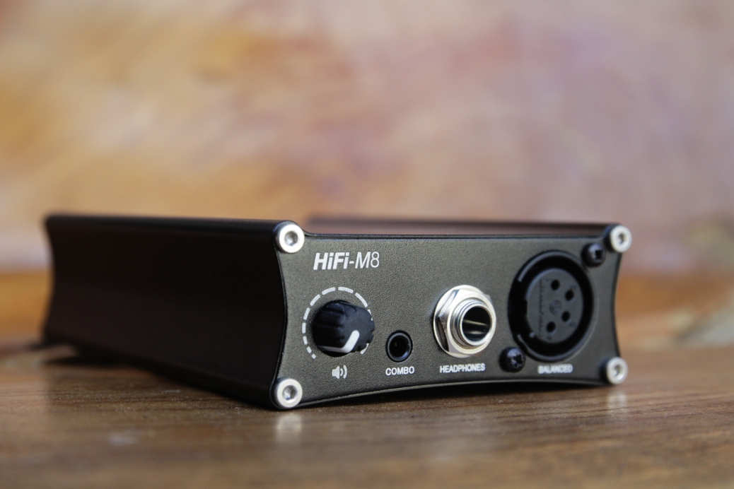 Front of the Centrance HiFi-M8 with the 4-pin XLR faceplate.