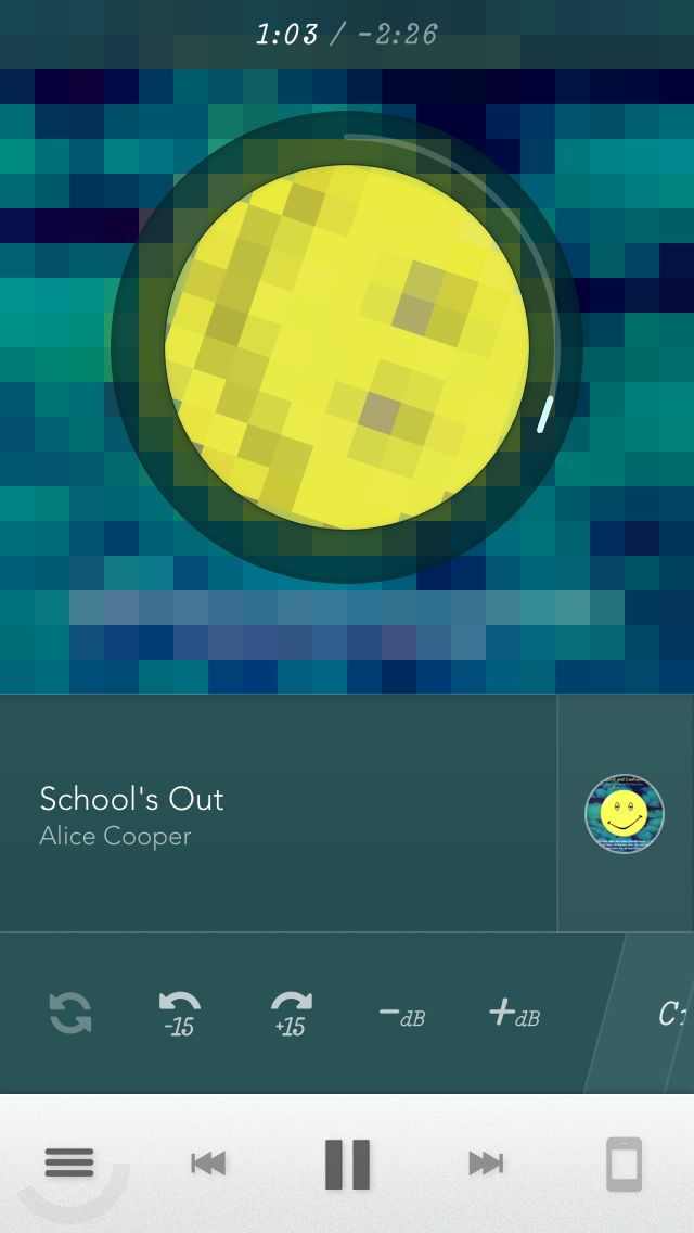 Cute Effect: pixelated album artwork!