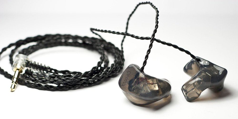 Paired with an Ultimate Ears custom IEM cable. [Photo from: CustomArt (Used with Permission)]