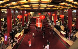 The lobby of the Grand Hotel in Taipei.