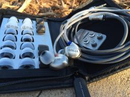The large case allows for plenty of room for the earphone and all accessories.