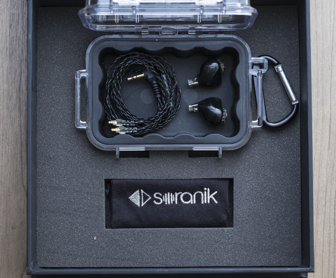 The array of accessories for the Ion is standard-fare for a premium, custom-derived IEM: waterproof Pelican case, removable cables, and a wipe cloth.